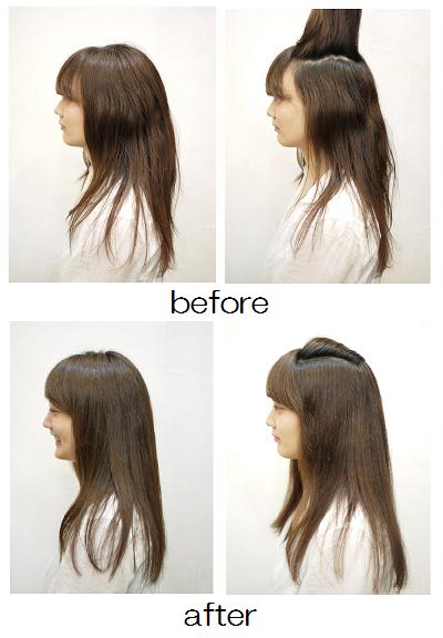 髪 の ボリューム を 抑える
